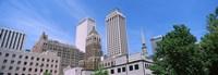 Low angle view of downtown buildings, Tulsa, Oklahoma Fine-Art Print