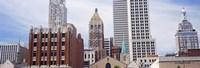 Low angle view of downtown skyline, Tulsa, Oklahoma Fine-Art Print