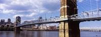 John A. Roebling Bridge across the Ohio River, Cincinnati, Ohio Fine-Art Print