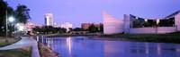 Buildings at the waterfront, Arkansas River, Wichita, Kansas, USA Fine-Art Print