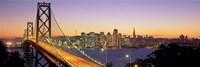 San Francisco Bay Bridge At Dusk, California Fine-Art Print
