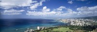 High angle view of skyscrapers at the waterfront, Honolulu, Oahu, Hawaii Islands, USA Fine-Art Print