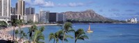 Waikiki Beach, Honolulu, Hawaii, USA Fine-Art Print