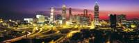 Skyline, Evening, Dusk, Illuminated, Atlanta, Georgia, USA, Fine-Art Print