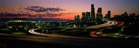 Sunset Puget Sound & Seattle skyline WA USA Fine-Art Print