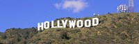 Low angle view of a Hollywood sign on a hill, City Of Los Angeles, California, USA Fine-Art Print