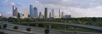 Houston Skyline from a Distance, Texas, USA Fine-Art Print