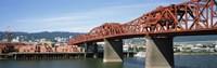 Bascule bridge across a river, Broadway Bridge, Willamette River, Portland, Multnomah County, Oregon, USA Fine-Art Print