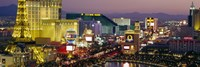 MGM Grand and Paris Casinos at night, Las Vegas, Nevada Fine-Art Print