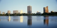 Lake Merritt with skyscrapers, Oakland, California Fine-Art Print