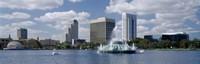 Buildings at the waterfront, Lake Eola, Orlando, Florida, USA Fine-Art Print