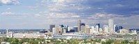 USA, Colorado, Denver, Invesco Stadium, High angle view of the city Fine-Art Print