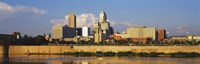 Buildings at the waterfront, White River, Indianapolis, Marion County, Indiana, USA Fine-Art Print