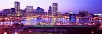 Inner Harbor, Baltimore, Maryland at Night Fine-Art Print