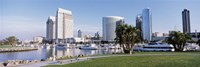 Panoramic View Of Marina Park And City Skyline, San Diego, California, USA Fine-Art Print