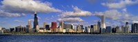 USA, Illinois, Chicago, Panoramic view of an urban skyline by the shore Fine-Art Print