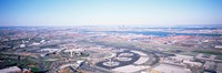 USA, New Jersey, Newark Airport, Aerial view with Manhattan in background Fine-Art Print