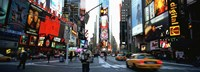 Traffic on a road, Times Square, New York City Fine-Art Print
