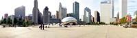 Buildings in a city, Millennium Park, Chicago, Illinois, USA Fine-Art Print