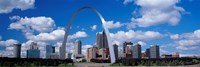 Metal arch in front of buildings, Gateway Arch, St. Louis, Missouri, USA Fine-Art Print