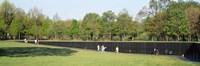 Tourists standing in front of a monument, Vietnam Veterans Memorial, Washington DC, USA Fine-Art Print