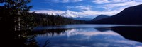 Reflection of clouds in water, Mt Hood, Lost Lake, Mt. Hood National Forest, Hood River County, Oregon, USA Fine-Art Print