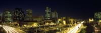 Buildings in a city lit up at night, Phoenix, Arizona Fine-Art Print