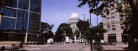 Government building in a city, Wisconsin State Capitol, Madison, Wisconsin, USA Fine-Art Print