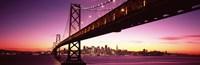 Bay Bridge and city skyline at night, San Francisco, California, USA Fine-Art Print