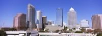 Skyscraper in a city, Tampa, Hillsborough County, Florida, USA Fine-Art Print
