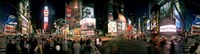 360 degree view of buildings lit up at night, Times Square, Manhattan, New York City, New York State, USA Fine-Art Print