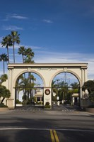 Entrance gate to a studio, Paramount Studios, Melrose Avenue, Hollywood, Los Angeles, California, USA Fine-Art Print