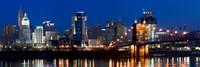 Cincinnati, Ohio at Night Fine-Art Print