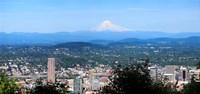 High angle view of a city, Mt Hood, Portland, Oregon, USA 2010 Fine-Art Print
