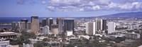 High angle view of a city, Honolulu, Oahu, Honolulu County, Hawaii, USA 2010 Fine-Art Print