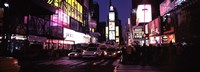 Street scene at night, Times Square, Manhattan, New York City Fine-Art Print