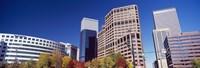 Low angle view of skyscrapers, Downtown Denver, Denver, Colorado, USA 2011 Fine-Art Print