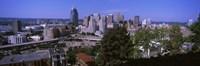 Downtown skyline, Cincinnati, Hamilton County, Ohio, USA Fine-Art Print