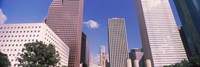 Low angle view of Downtown skylines, Houston, Texas, USA Fine-Art Print