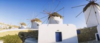 Traditional windmill in a village, Mykonos, Greece Fine-Art Print