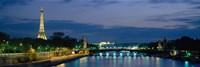 France, Paris, Eiffel Tower , Seine River Fine-Art Print