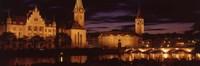 Switzerland, Zurich, Limmat River at night Fine-Art Print