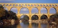 Aqueduct, Pont Du Gard, Provence-Alpes-Cote d'Azur, France Fine-Art Print