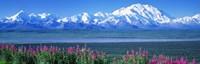 Mountains & Lake Denali National Park AK USA Fine-Art Print