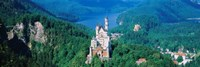 High angle view of a castle, Neuschwanstein Castle, Bavaria, Germany Fine-Art Print