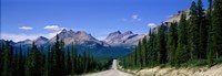 Road In Canadian Rockies, Alberta, Canada Fine-Art Print
