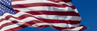 Close-up of an American flag fluttering, USA Fine-Art Print