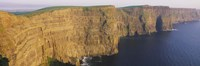 High Angle View Of Cliffs, Cliffs Of Mother, County Clare, Republic Of Ireland Fine-Art Print