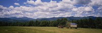 Tractor on a field, Waterbury, Vermont, USA Fine-Art Print