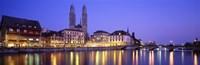 Commercial District, Limmatquai, Zurich, Switzerland Fine-Art Print